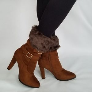 Furry boot toppers